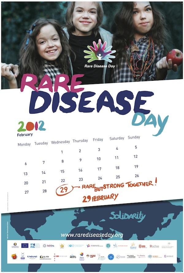 locandina ufficiale della giornata mondiale delle malattie rare
